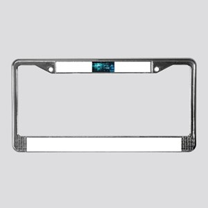 Futuristic Backgro License Plate Frame