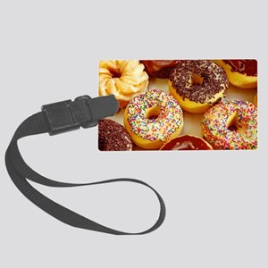 Assorted delicious donuts Large Luggage Tag
