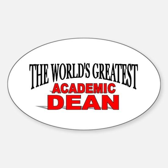 """The World's Greatest Academic Dean"" Decal"
