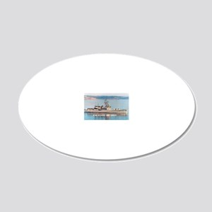 evans rectangle magnet 20x12 Oval Wall Decal