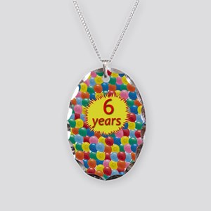 AABalloons6 Necklace Oval Charm