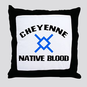 Cheyenne Native Blood Throw Pillow