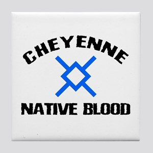 Cheyenne Native Blood Tile Coaster