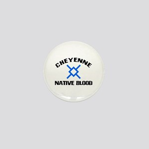 Cheyenne Native Blood Mini Button