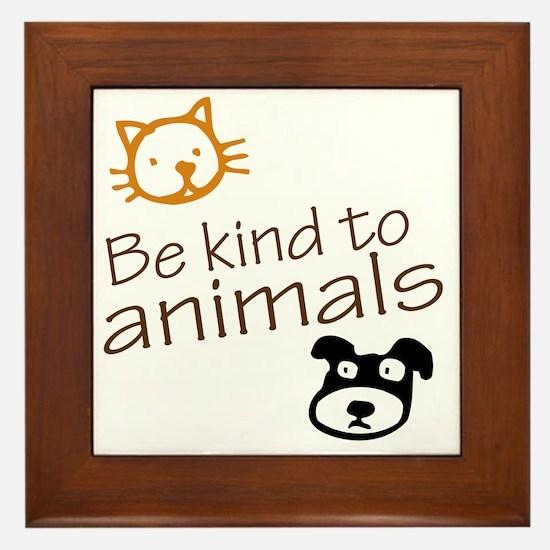 be kind2 Framed Tile
