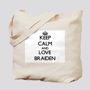 Keep Calm and Love Braiden Tote Bag