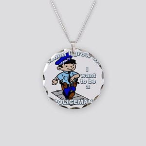 policeman_CP Necklace Circle Charm
