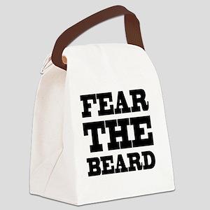 Fear The Beard Canvas Lunch Bag