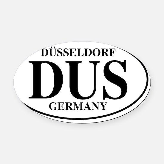 DUSDusseldorf Oval Car Magnet