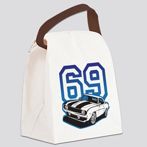 blue 69 camaro Canvas Lunch Bag