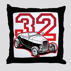 red 32 ford Throw Pillow