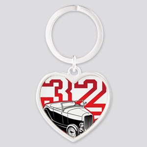 red 32 ford Heart Keychain
