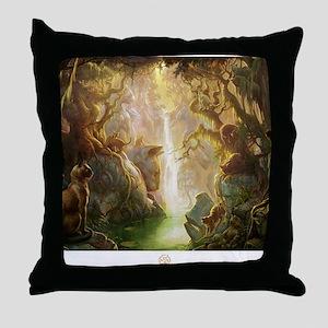 cat_fantasy Throw Pillow