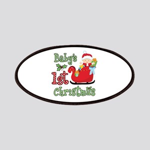 1st Christmas Baby Santa Patches
