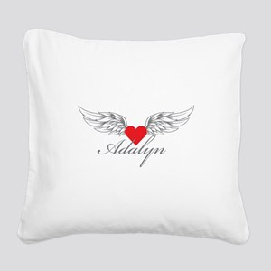 Angel Wings Adalyn Square Canvas Pillow