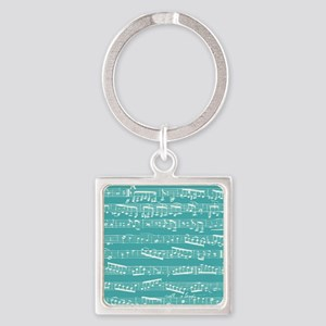 Turquoise music notes Keychains