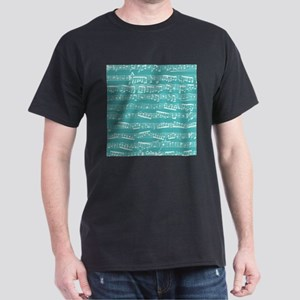 Turquoise music notes T-Shirt
