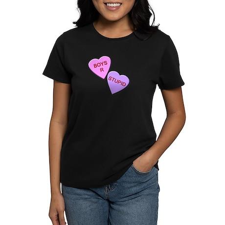 Boys R Stupid Women's Dark T-Shirt