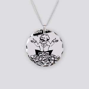 Karl Marx Clear copy Necklace Circle Charm