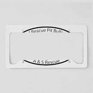 custom-aandsrescueampitbulls- License Plate Holder