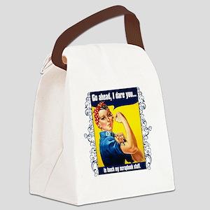 TouchMyStuff Canvas Lunch Bag