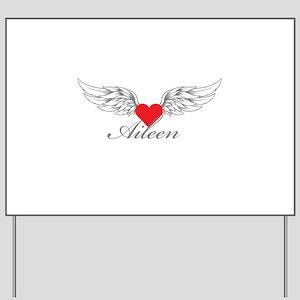 Angel Wings Aileen Yard Sign
