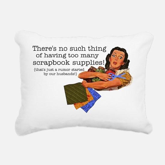 rumor Rectangular Canvas Pillow
