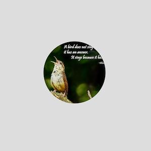 2-Carolina Wren-1 in song #091 08-15-0 Mini Button
