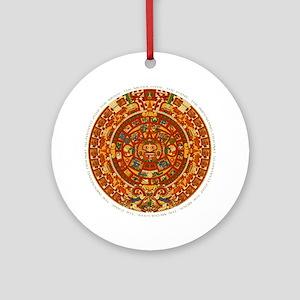 mayan_panic Round Ornament