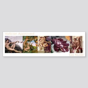 2-VaticanApp_Drk_5Bar_14inHor Sticker (Bumper)