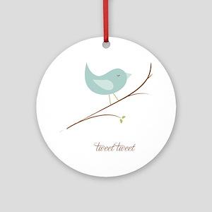 3-sigg-tweet-sm Round Ornament