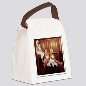 Sauna Girlfriends in Towels Canvas Lunch Bag