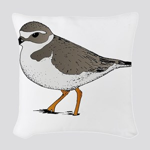 piping-plover Woven Throw Pillow