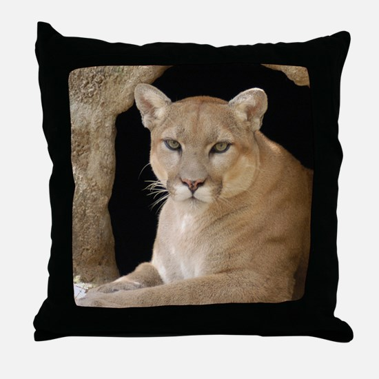 Cougar 014 Throw Pillow
