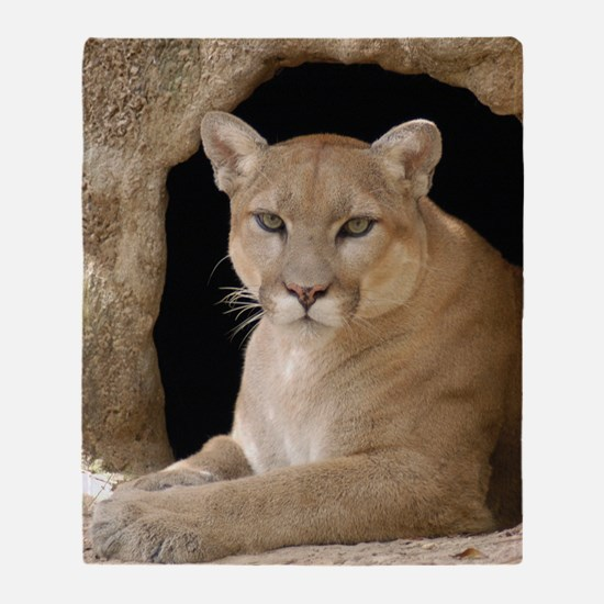 Cougar 014 Throw Blanket