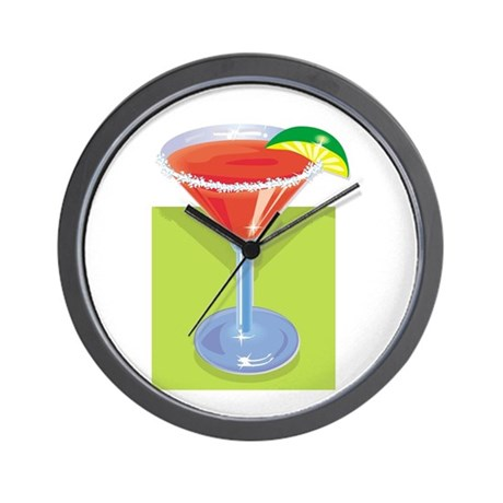 Margarita with Background Wall Clock