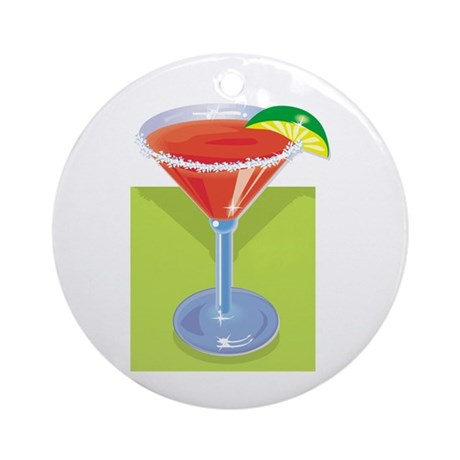 Margarita with Background Ornament (Round)