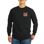 Cactus Country Holiday Long Sleeve Dark T-Shirt