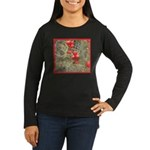 Cactus Country Holiday Women's Long Sleeve Dark T-