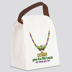 HeartCrownQbbeadsTR Canvas Lunch Bag