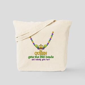 HeartCrownQbbeadsTR Tote Bag