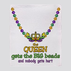 HeartCrownQbbeadsTR Throw Blanket