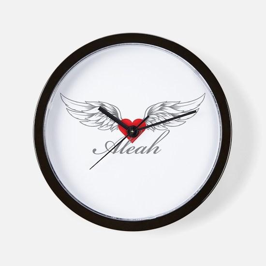 Angel Wings Aleah Wall Clock