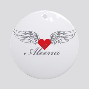 Angel Wings Aleena Ornament (Round)