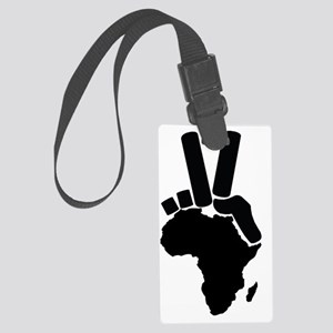 africa-peace sign Large Luggage Tag