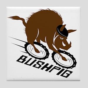 bushpig Tile Coaster