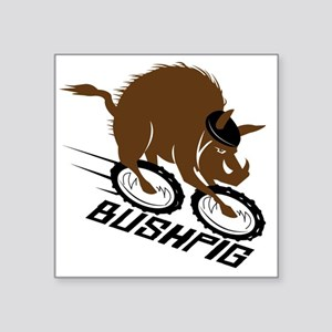 "bushpig Square Sticker 3"" x 3"""
