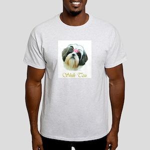 Shih Tzu Painting Portrait Jo Ash Grey T-Shirt