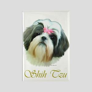 Shih Tzu Painting Portrait Jo Rectangle Magnet