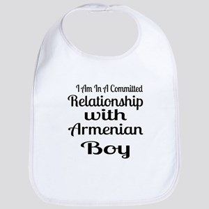 I Am In Relationship With Armenian Cotton Baby Bib